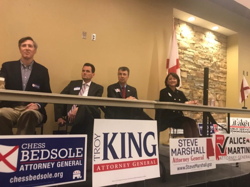 AG candidates make cases, sometimes clash in candidate forum