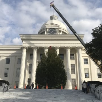 Capitol Christmas Tree Arrives in Montgomery