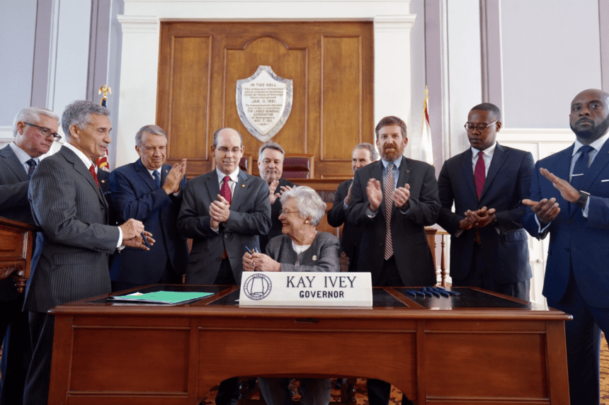 Ivey signs gas tax increase into law