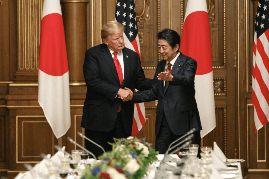 Trump breaks with Japan's Abe on North Korean missile tests