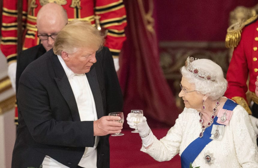 Trump turns from pomp to business in UK visit