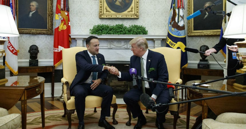 Trump welcomes Irish prime minister to White House
