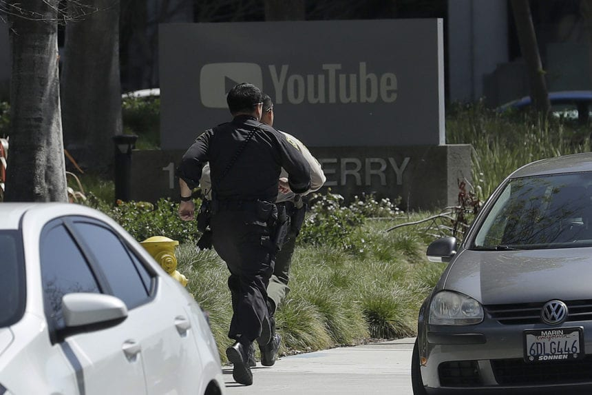 The Latest: YouTube shooter opened fire in headquarters patio