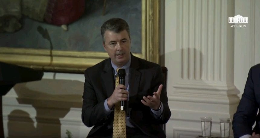 Marshall talks immigration, trafficking at White House event