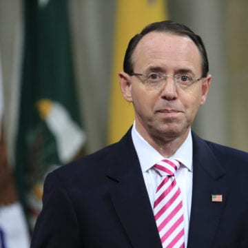 After offering resignation, Rosenstein will discuss his job's future with Trump Thursday