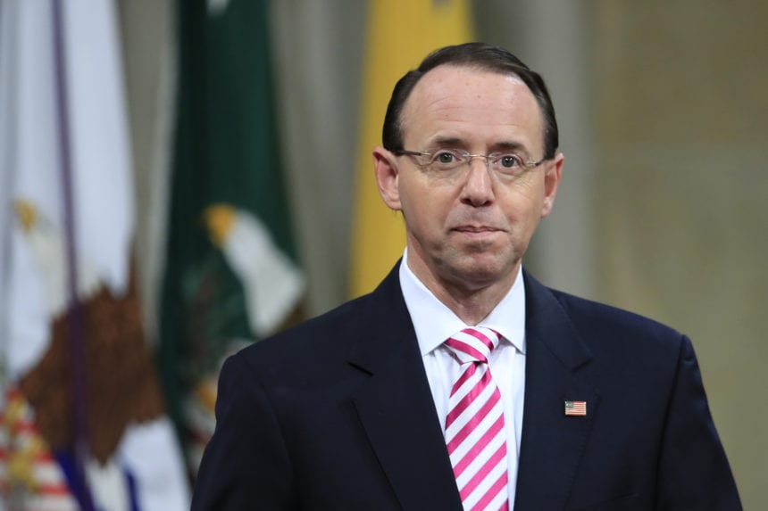 Rod Rosenstein submits letter of resignation to Trump
