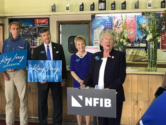 Ivey Receives Endorsement from NFIB