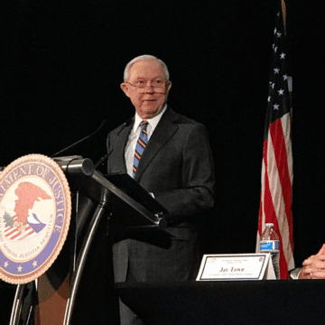 'We have your back.' Sessions speaks to law enforcement in Birmingham