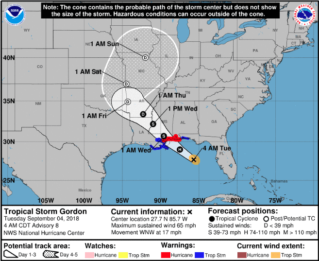 Gordon strengthens, expected to hit Gulf Coast as hurricane
