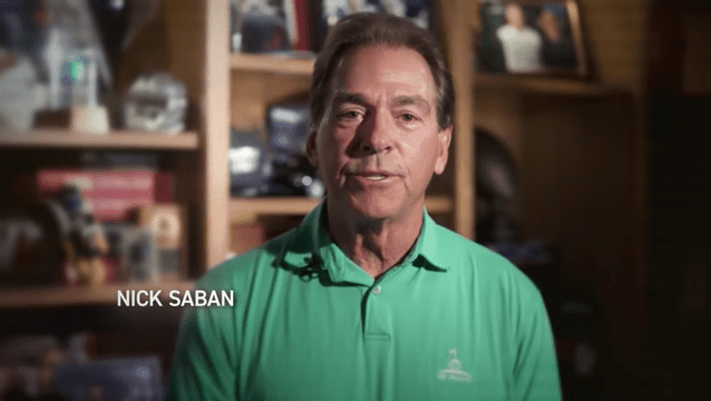 In rare political appearance, Nick Saban endorses Joe Manchin for Senate