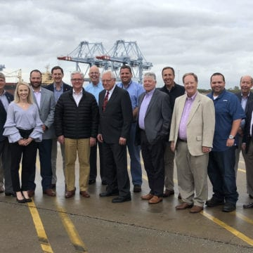 Leaders tour seaport terminals