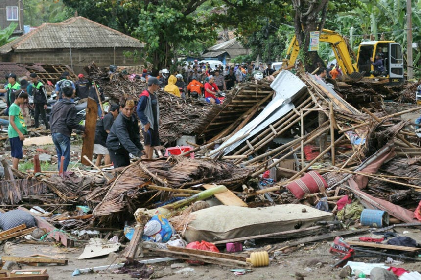 Tsunami set off by volcanic eruption kills 222 in Indonesia
