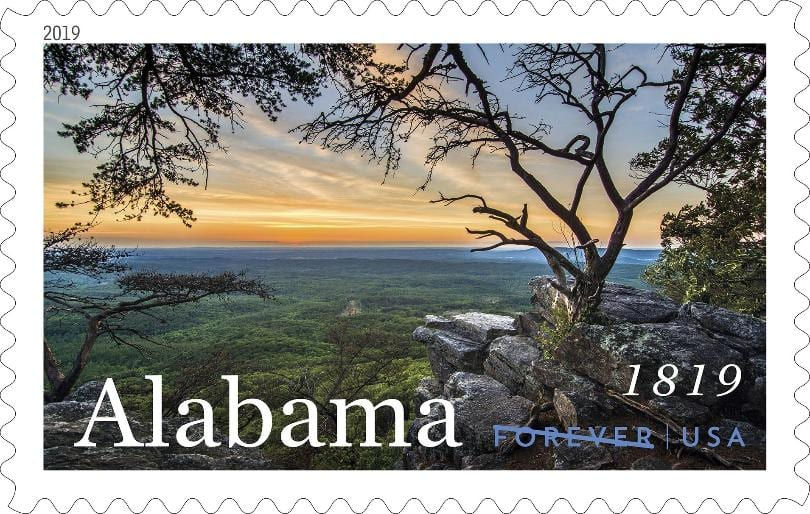 New stamp honors Alabama's 200th birthday