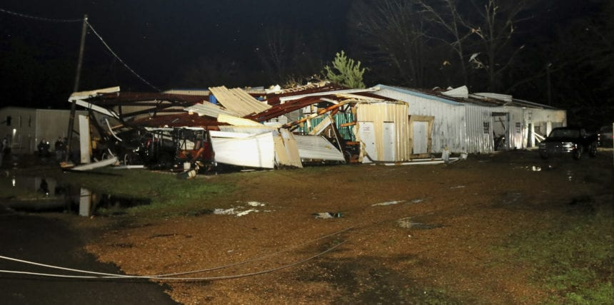 Tornado death confirmed as violent storms smack the South