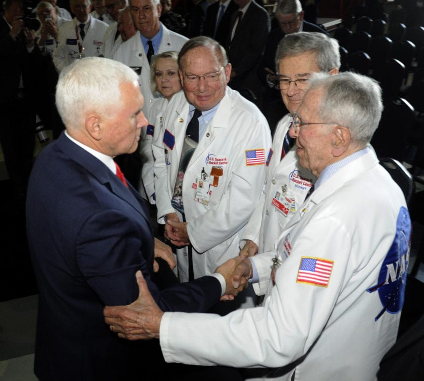 Pence calls for landing US astronauts on moon in 5 years