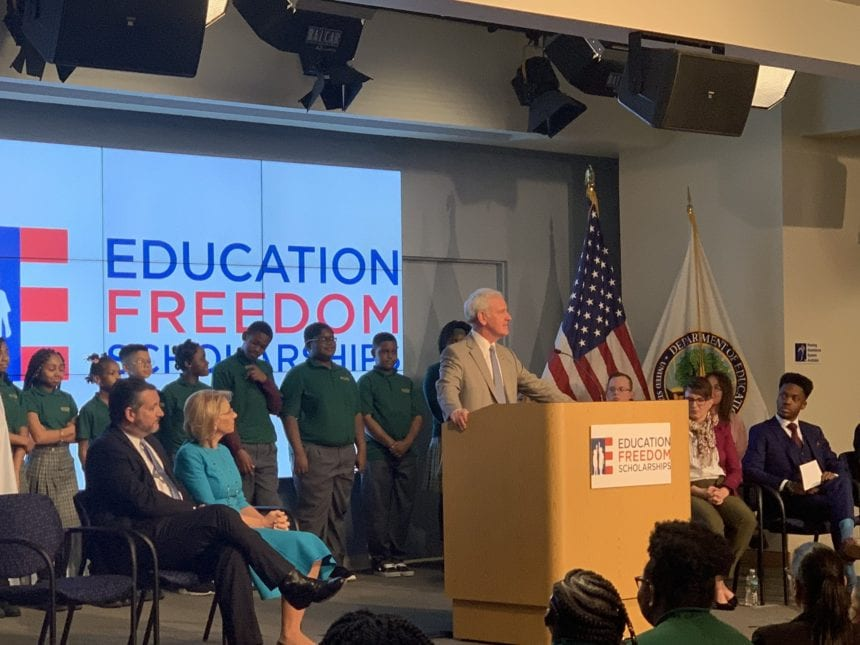 DeVos proposes federal tax credits to advance school choice