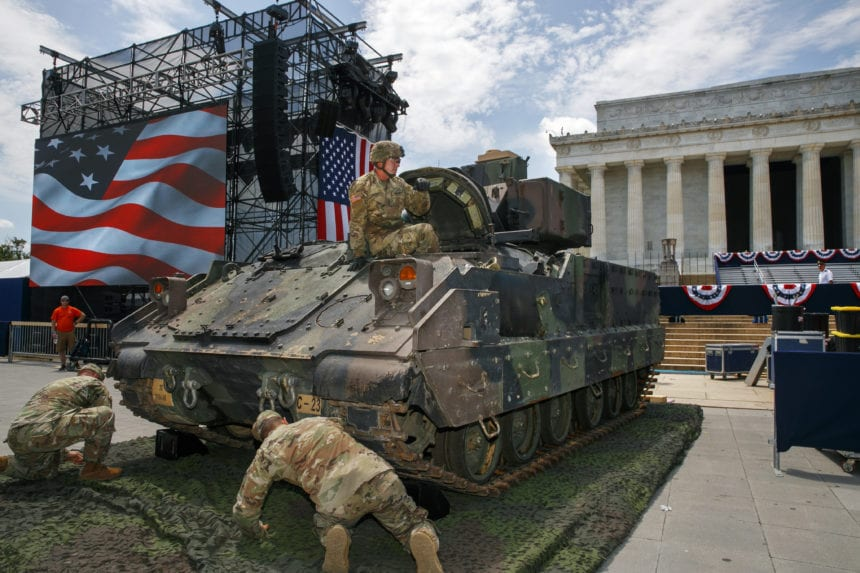 Washington's Fourth of July to come with a twist of Trump