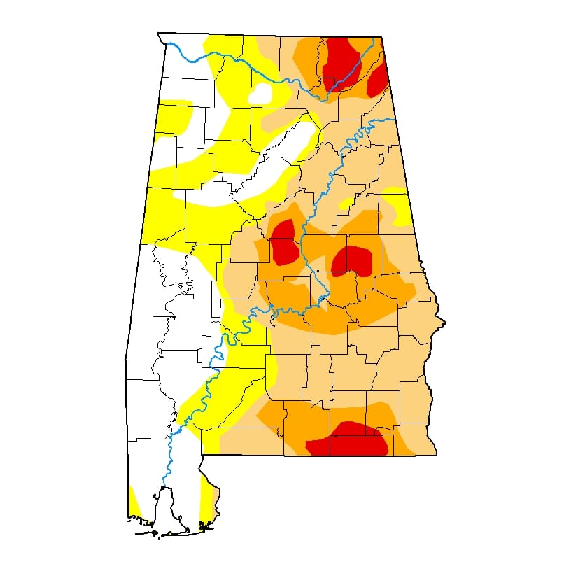 Southern drought shows first improvement in weeks