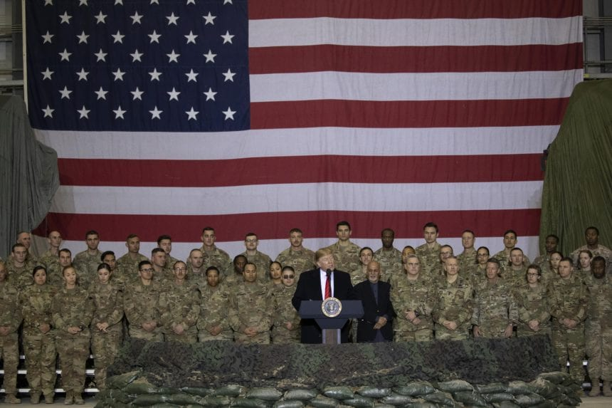 Trump thanks troops on Afghan visit, says Taliban want deal