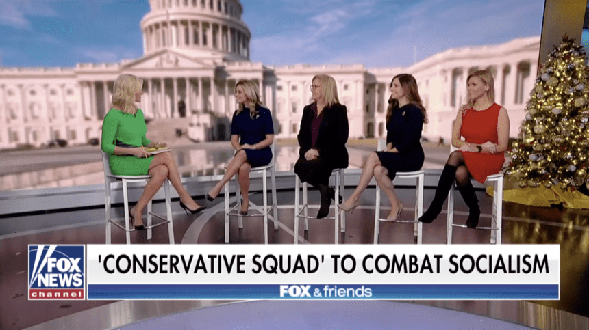 Taylor gathers 'conservative squad' on Fox & Friends