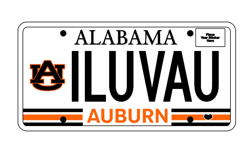 New Auburn car tag available