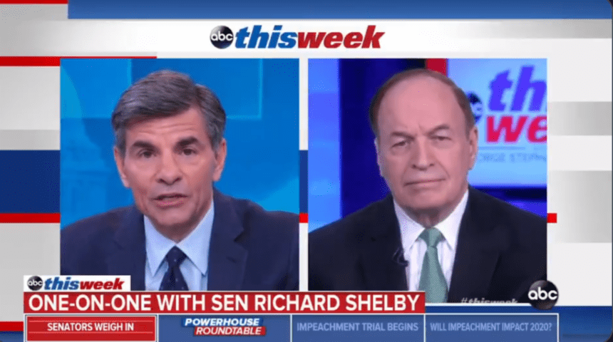 Shelby discusses Senate impeachment trial on 'This Week'