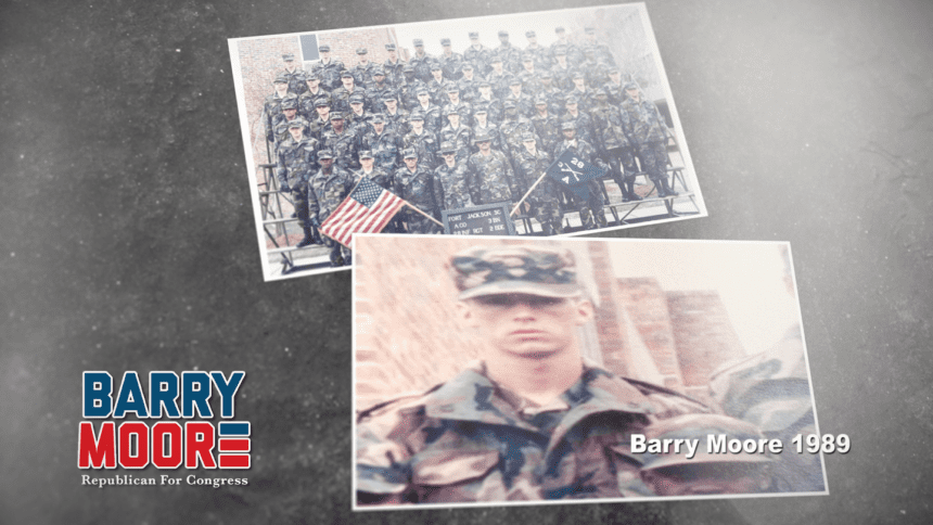 Barry Moore ad touts his military service