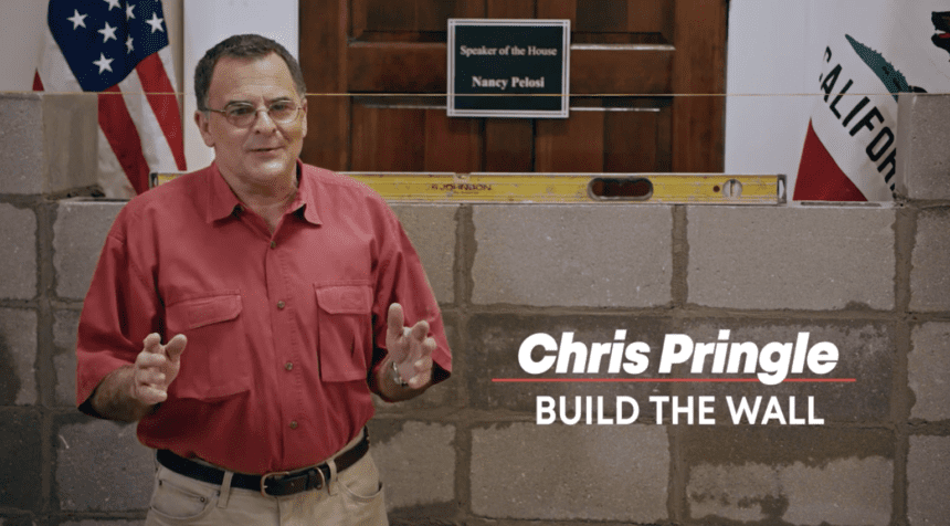 Pringle in new ad: 'I know how to build walls'