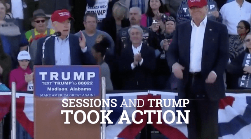 Sessions ad touts his stances, actions on illegal immigration
