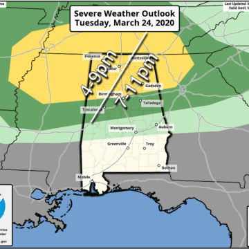 James Spann: Strong to severe storms possible in Alabama late today, tonight