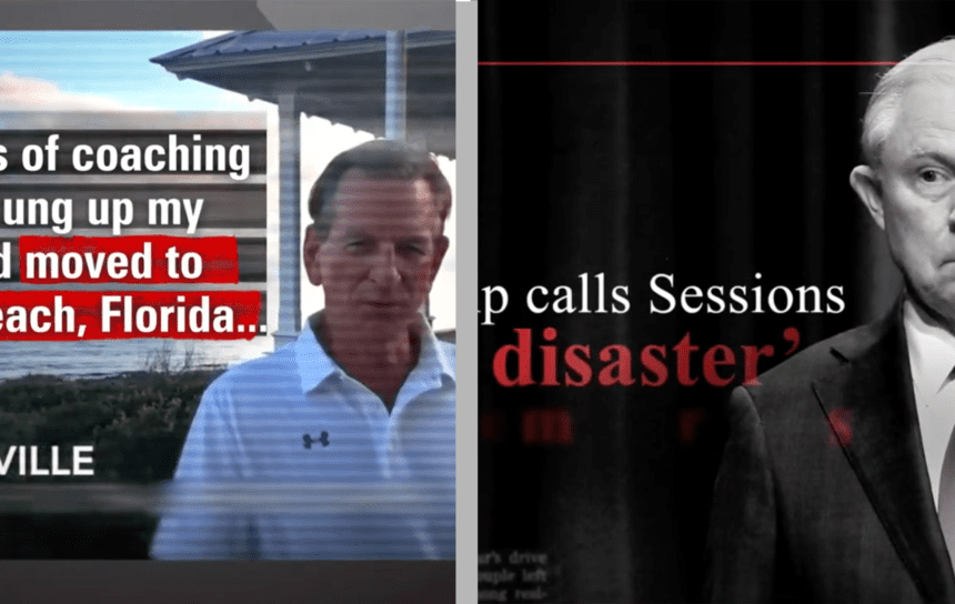 Tuberville, Sessions go after each other in new ads