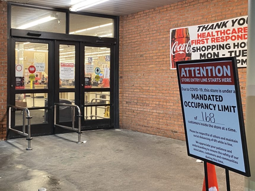 As grocery stores serve essential need, capacity limits and safety measures added