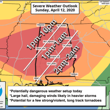 James Spann has Easter Sunday advice, information for today's severe weather threat in Alabama