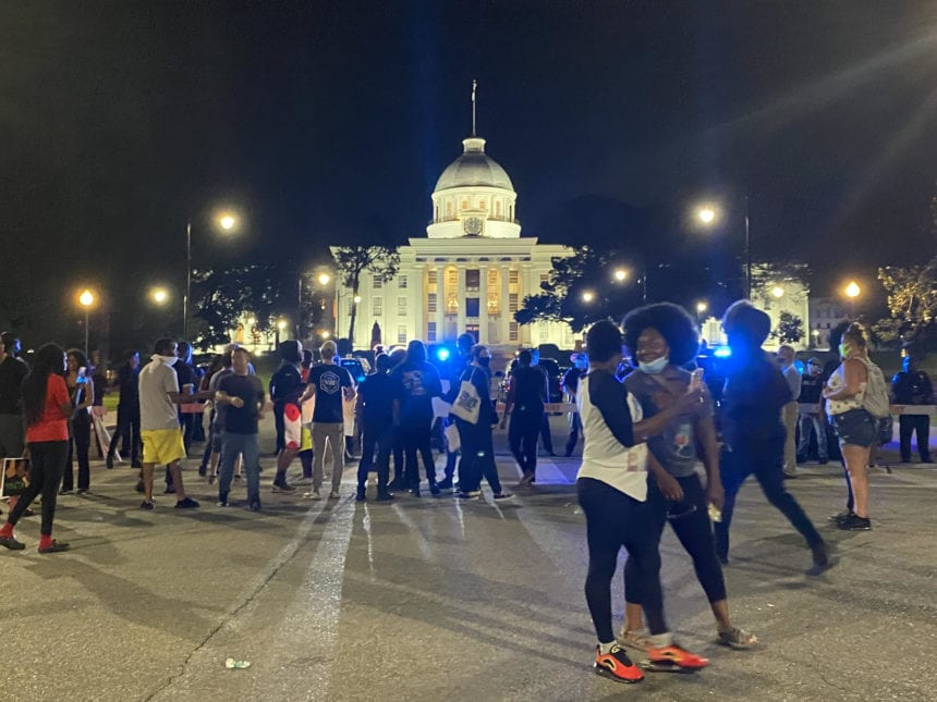 Night of peaceful protest in Montgomery