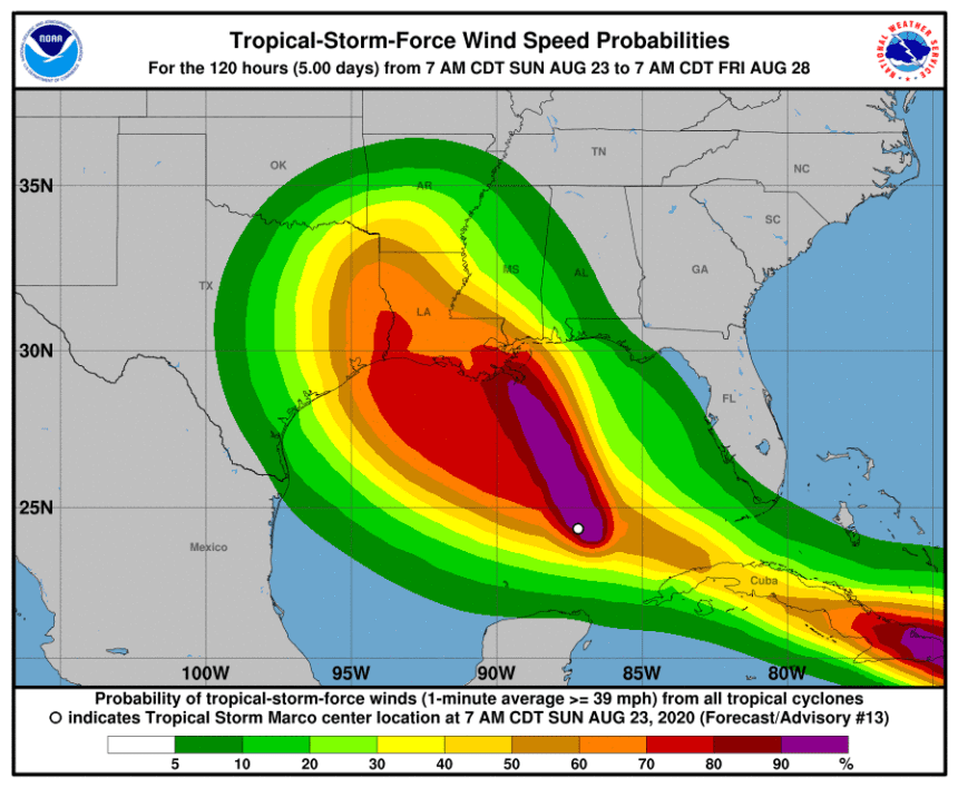 Storms heading for double blow to Gulf Coast