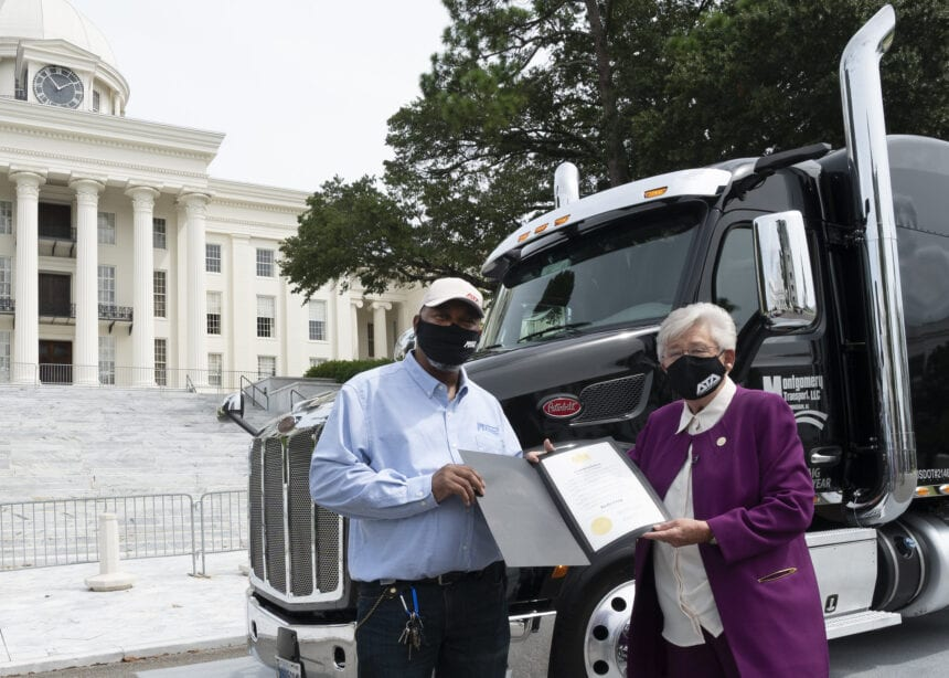Ivey honors Truck Driver of the Year at State Capitol