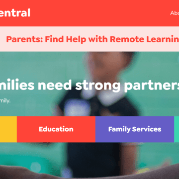 New website provides parents with learning, health resources