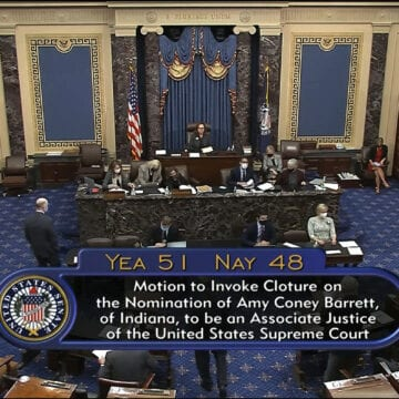 Senate votes to advance Barrett; confirmation expected Monday