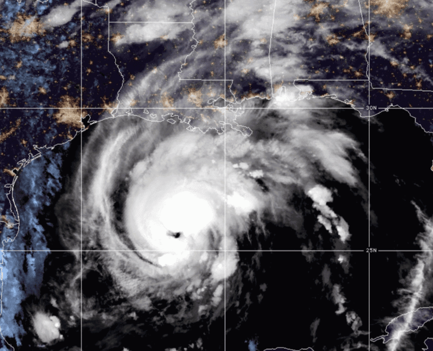 Zeta re-strengthens to a hurricane, takes aim at Gulf Coast