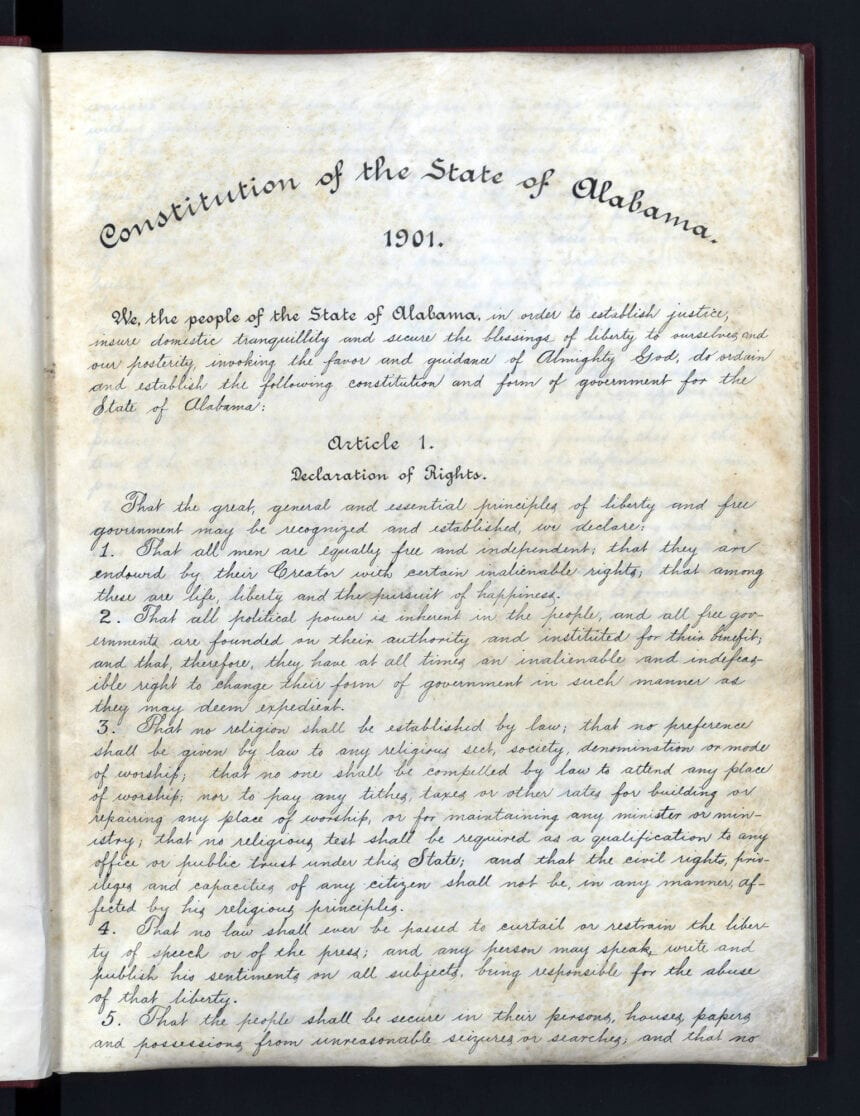 Alabama approves bid to cut racist phrases from Constitution