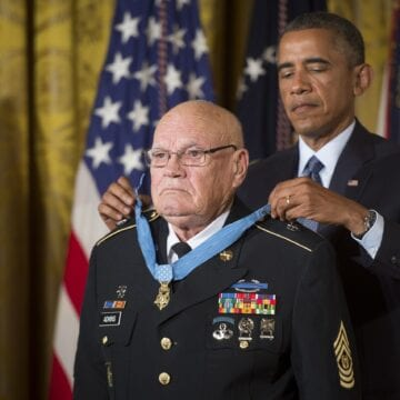 Funeral held for Medal of Honor recipient Bennie Adkins