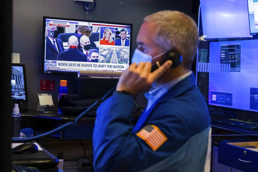 Global shares mostly up on optimism for stimulus from Biden