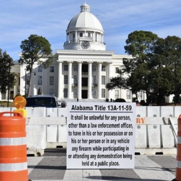Photos: Alabama Capitol complex barricaded in anticipation of protests