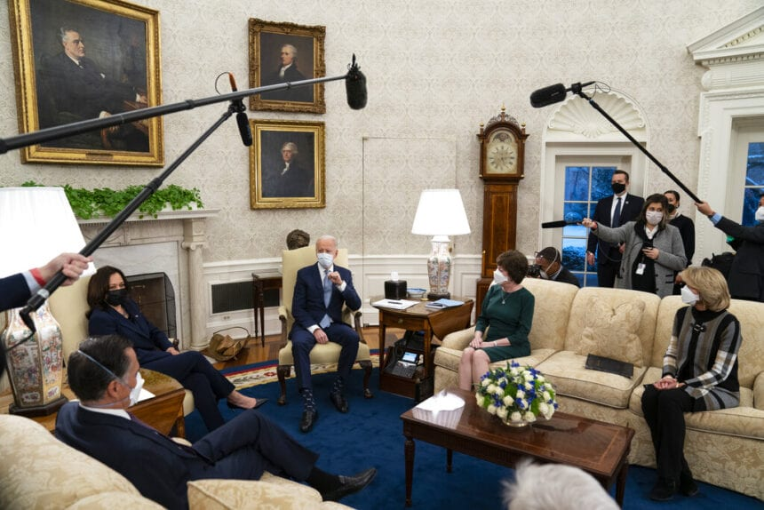 Biden meets with Republicans on virus aid, but no quick deal